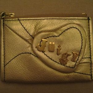 Juicy Couture Metallic Gold Leather Wallet